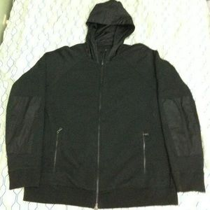 Vince French Terry Nylon Full Zip Hoodie Jacket XL